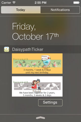 Daisypath App today extension
